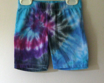 Tie Dyed Shorts Hippie Girls Child Size 4