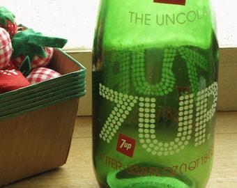 Vintage 7up The Uncola 1 Liter Glass Bottle