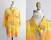 SALE~ Vintage 1980s statement silk blouse