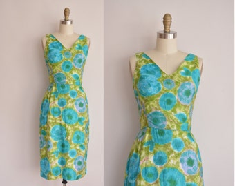 1950s dress/vintage 50s dress/ 50s cotton dress by Fritzi
