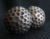 Solid Bronze Golf Ball Cufflinks with Vintage Finish
