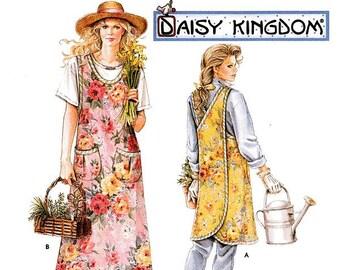 Simplicity Apron Pattern 7481 - Misses' Daisy Kingdom Tieless Cross Back Apron - SZ S/M/L/Xl