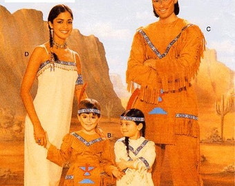Butterick Child's Costume Pattern 4171 - Children's Costume Pattern - Native American Indian Costumes - All Child Sizes Included