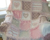 prefringed CUT Rag Quilt KIT ~ pink and gray custom listing for KO1973