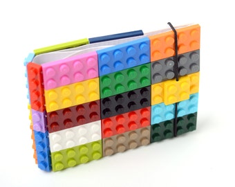 Multicolor wallet made with original LEGO bricks FREE SHIPPING