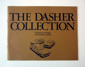 Original 1979 VW Dasher Collection Sales Brochure - Volkswagen Collectible - vintage volkswagen - promotional advertising - car advertising
