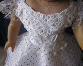 boho hippie dress in white for your American Girl doll