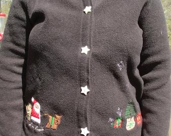 Santa sweater, christmas sweater, cute christmas sweater, tacky sweater, tacky sweater party, ugly sweater, ugly sweater party, christmas