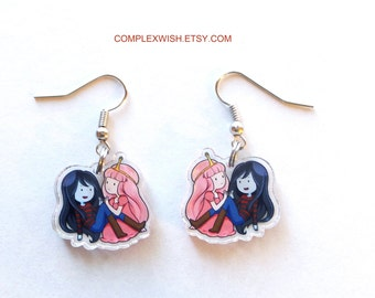 Adventure Time earrings - Bubbline