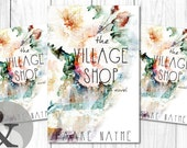 "Premade Digital eBook Book Cover Design ""The Village Shop"" Floral Watercolor Fiction YA Women Adult Whimsical"