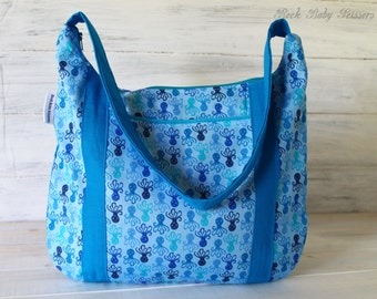 Octopus Devlin Hobo with Blue accents