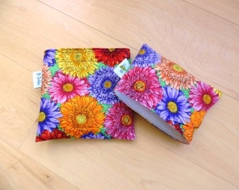 Md/ Sm Dahlias Reusable Snack Sandwich Bag Bags Baggy Baggie  with water resistant lining