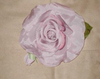 Vintage Millinery Velvet & Silk Large Rose Flower