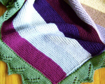 Jam on Toast Knitting Blanket PATTERN - Knit Your Own Blankets