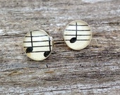 music tunes earrings   vintage sheet music earrings   music lover   band   orchestra   choir