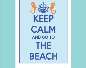 Keep Calm Cards - Keep Calm and Carry On - Keep Calm and Go to the Beach - Keep Calm and Carry on Note Cards - British Phrase Cards