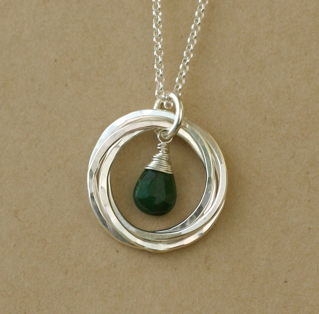 40th Birthday Gift Emerald Necklace May Birthstone Jewelry