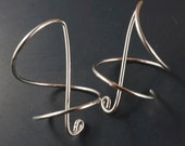 Coil Earrings. Interchangeable Earring Hook.  Spiral Hook Earring. Rose Gold . Yellow Gold. Sterling . CecileStewartJewelry Etsy No.00E16