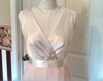 Satin Chiffon Gown - Made as Ordered