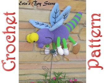 Razzle Dazzle Dragonfly a Crochet Pattern by Erin Scull