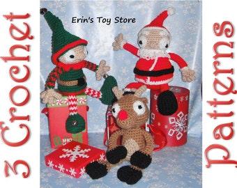 Santa's Little Helpers 3 Crochet Patterns by Erin Scull