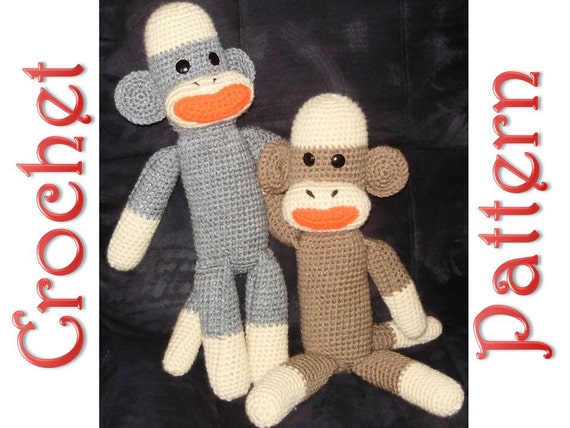 Sock Monkey A Crochet Pattern by Erin Scull