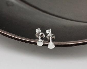 3mm Studs - Sterling Silver Earrings - Silver Studs - Silver Earrings - Back to School - Great Gift Idea - Stocking Stuffer