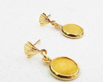 Yellow Studs earrings - Bridesmaid Gift Earrings