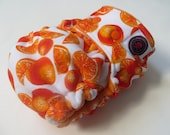 One Size Bamboo Fitted Hybrid Cloth Diaper Orange Blast
