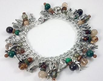 Wild Animal Safari Charm Bracelet