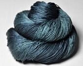 Dead Marshes - Silk Fingering Yarn - knotty skein