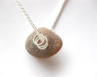 Sterling Sea glass jewelry beach glass jewelry SS sea glass necklace