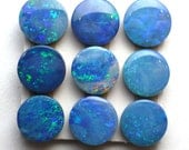 Opal Cabochons Confetti 6mm Round Blue/Electric Australian ONE STONE Perfect Stacking Rings Jewelry PinFire White Blue Teal Green Sparkle