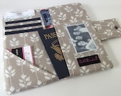 Custom Order a Dollbirdies Family Size Boarding Pass Passport Wallet for Four