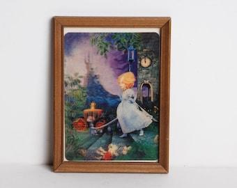 Vintage 60s Hologram Doll Photo Print Cinderella