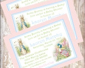 Printable PDF Peter Rabbit Baby Shower Invitations Beatrix  Potter bunny  Easter 1st birthday party decorations baby shower birthday