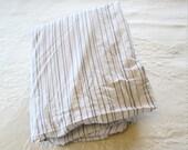 Twin Cotton Sheet Set Grey Stripe
