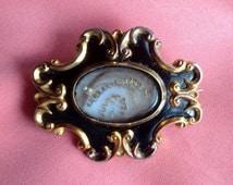 Victorian Hair Mourning Brooch Original