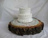 Rustic Wood Tree Slice Cake Stand - Cake Base  - Tree Stump - Slice C