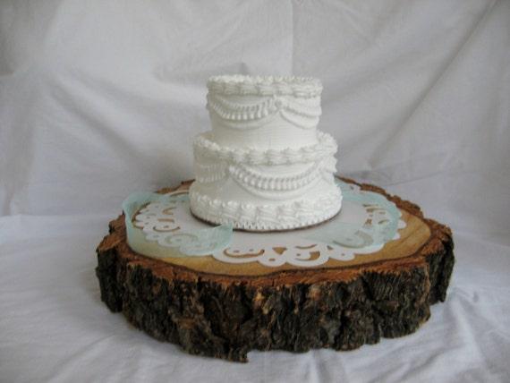 rustic wood tree slice cake stand cake base tree stump. Black Bedroom Furniture Sets. Home Design Ideas