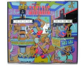 Pinball Backglass Pinball Machine Art - Neon Wall Hanging - From Williams Darling 1973