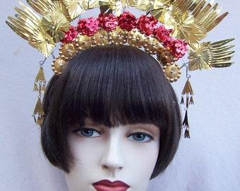 Vintage Indonesian Sumatra Headdress Headpiece Belly Dance  (ABC)