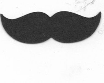 Tiny mustache cupcake toppers set of 24