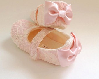 Baby girl shoes toddler girl shoes wedding girl shoes hot pink toddler girl shoes baby girl shoes couture baby shoes blush light pink flower girl shoes lace mightylinksfo Choice Image