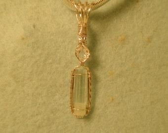 4 + ct Aquamarine crystal and a Herkimer diamond