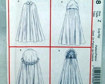 McCalls Medieval Costume Pattern M4698 Misses Capes Halloween Uncut