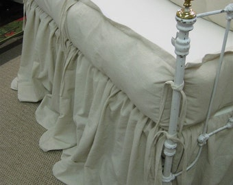 Washed Natural Cotton Classic Tailored Crib Linens-Classic Styled Nursery Linens-Made in USA