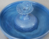 "Cat Water Fountain - Pet Fountain - Indoor Fountain - 11.75 Inch Diameter - ""Blue Scallop"""