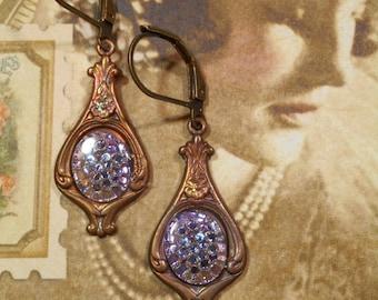 Lady Sybil Earrings - Downton Abbey Jewelry - Art Nouveau Jewelry - Edwardian Earrings - Titanic Jewelry - Victorian Earrings