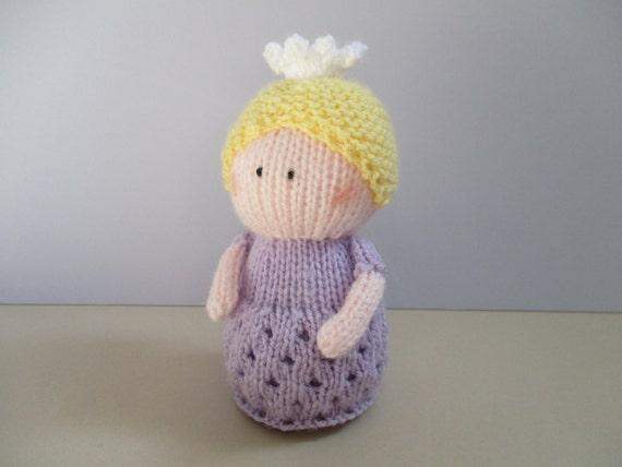Princess Charlotte toy doll knitting patterns by fluffandfuzz